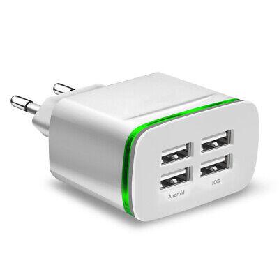 4 PORT 110 220V 5V 4A USB Reise Ladegerät Netzstecker