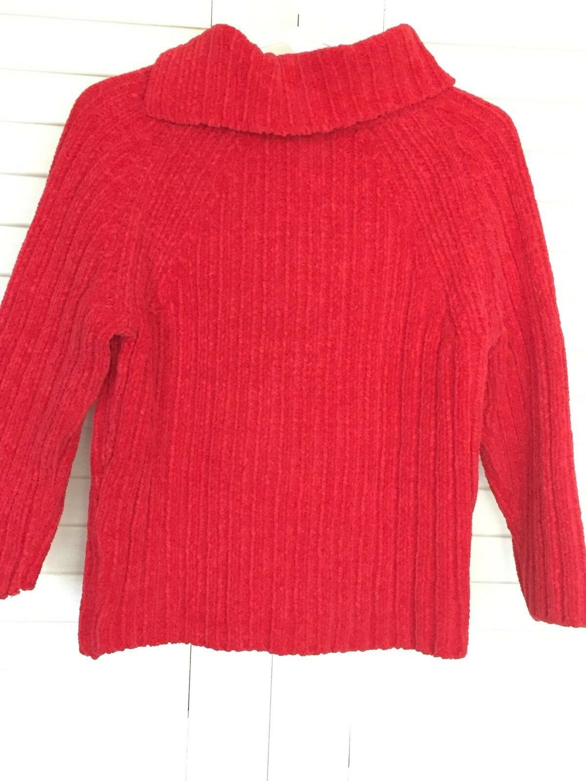 955d62174 Baby Gap Red Chenille Turtleneck Sweater Toddler Girls 3 Yrs for ...