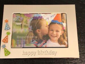 Reed-amp-Barton-Lenox-LET-039-S-CELEBRATE-Happy-Birthday-4x6-034-Silverplate-Photo-Frame