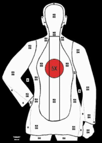 Special B-21X (Red Center) LE Silhouette Targets [20.5  x 23.5 ] (100 targets)