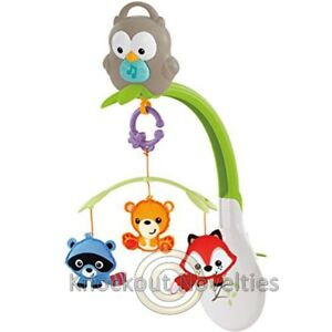Fisher-Price-3-in-1-Musical-Woodland-Mobile-Fun-Baby-Learn-Play-Toy