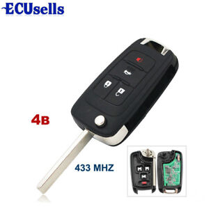 4-Buttons-Flip-Remote-Key-Fob-For-Chevrolet-Cruze-Aveo-Orlando-ID46-Chip-433MHz