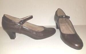 New-W-OTag-Brown-AEROSOLES-A2-Heelrest-034-For-Shore-034-8M-Maryjanes-Heel-Shoes