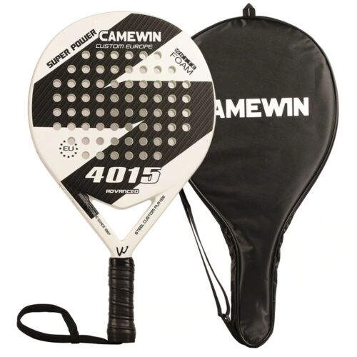 New Carbon Fiber Padel Tennis Racket Soft Face Paddle Tennis Racquet With Bag Co
