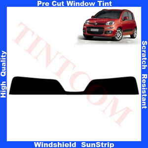 Pre-Cut-Window-Tint-Sunstrip-for-Fiat-Panda-5-Doors-Hatchback-2012-Any-Shade