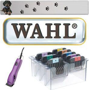 WAHL-KM-5-PROFI-SCHERMASCHINE-EDELSTAHL-AUFSTECKKAMM-SET-3-25-MM-034-NEUHEIT-034