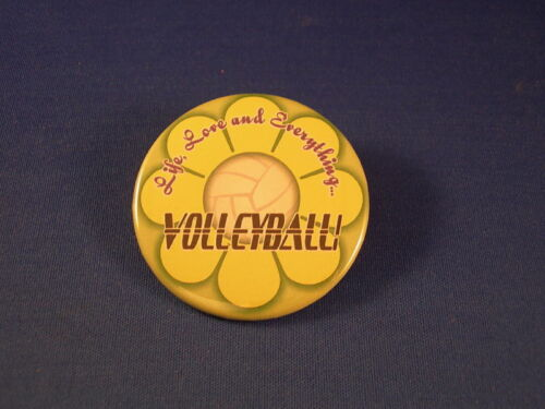VOLLEYBALL Lot of 12 BUTTONS  team sports pins pinbacks