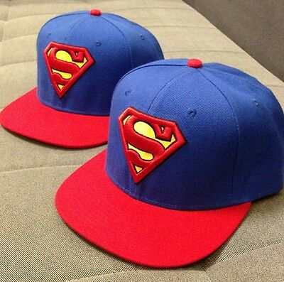 New Fashion Sexy Superman Hip hop Snapback Baseball Adjustable Cap&hat Blue
