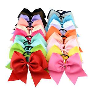 1-5x-Baby-Ribbon-Bowknot-Hair-Ties-Bow-Elastic-Hair-Band-Girl-Headband-Hair-Rope