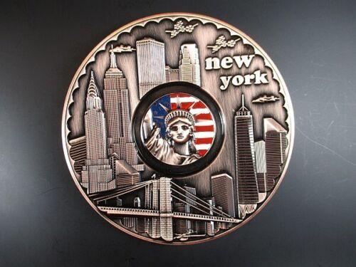 New York Teller Metall 14 cm,Freiheitsstatue,Empire,Chrysler,Freedom Tower