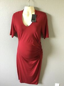 V Womens 4 Neck Oliver Stretch Size Maternity 10 Ruched Dress Us Isabella HYnqCn