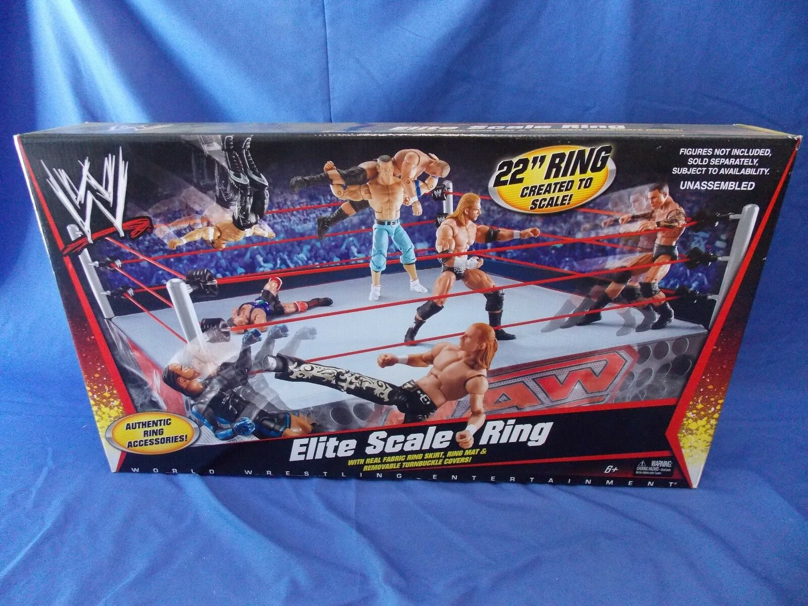 WWE ELITE SCALE ACTION FIGURE WRESTLING RING MATTEL 1ST RELEASE 2010