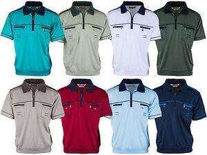 Das Bild wird geladen Polohemd-Poloshirt-fuer-Herren-von-SOUNON-verschiedene -Farben-