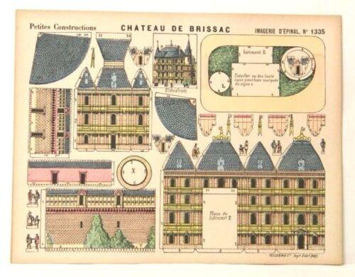 Petites Constructions paper model Imagerie D'Epinal No 1335 Château de Brissac