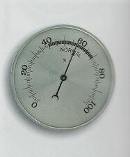 Analog 70 mm Hygrometer silber Aluskala Luftfeuchtigkeit Bimetall Deutsche Marke