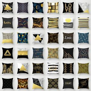 Polyester-Gold-Plant-Printed-Pillow-Case-Cover-Sofa-Cushion-Cover-Home-Decor