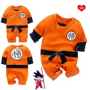 75118cdbdd4e Cute Dragon Ball Goku Baby Costume Newborn Infant Boy Jumpsuit ...
