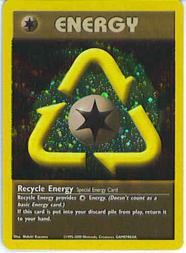 ♦ POKEMON RECYCLE ENERGY FOIL HOLO PROMO ENERGIA RICICLO INGLESE