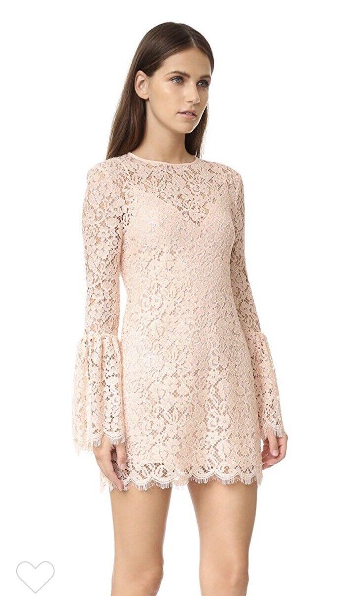 b4fe896155680 Rachel Zoe Libby Lace Bell Sleeve Dress Blush Pink US 10 for sale online |  eBay