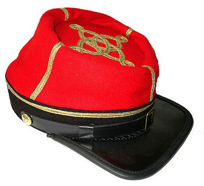 59cms 58 Large Kepi American War Size Civil Red Captains Artillery Confederate wzv0qwR
