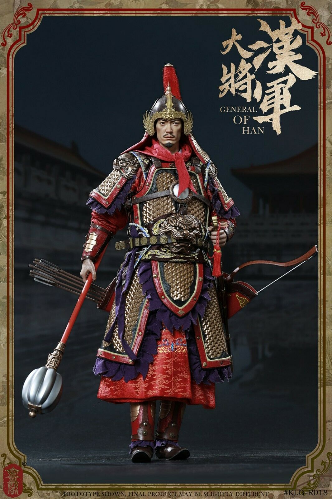 KLG 1 6 Ming Dynasty R018B General of Han Action Figure Exclusive Version Toys