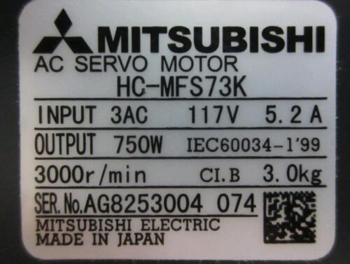 MITSUBISHI SERVO MOTOR HC-MFS73K FREE EXPEDITED SHIPPING HCMFS73K Refurbished