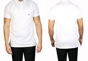 Muga-Slim-fit-Herren-Poloshirt-Gr-L-Weiss