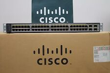Cisco Catalyst WS-C3750V2-48PS-S 48-Port PoE Switch WS-C3750-48PS-S LATEST VER