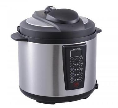 Black 1000-Watt 6-Quart Electric Pressure Cooker