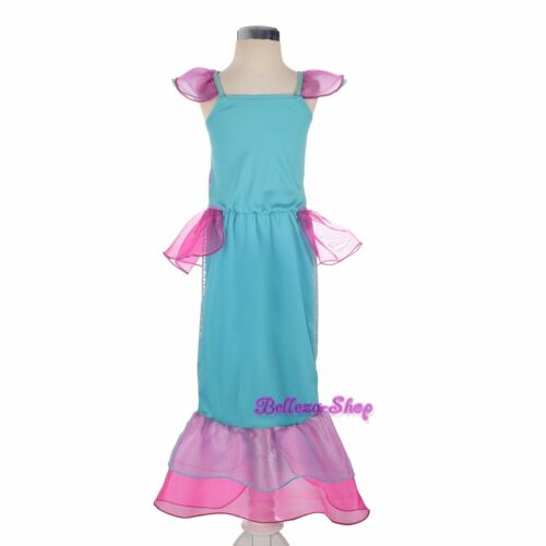 Mermaid Fairy Tales Costume Cosplay Fancy Party Outfit Dress Up Size 3T-6x FC055