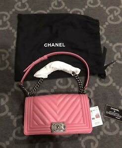 535e337a Details about BRAND NEW WITH TAGS 100% AUTHENTIC CHANEL BOY BAG MEDIUM DARK  PINK FLAP BAG