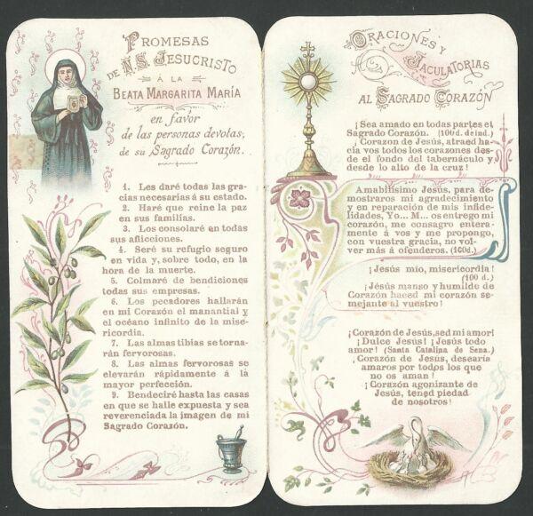 Estampa Antigua De La Custodia Andachtsbild Santino Holy Card Santini úLtimo Estilo
