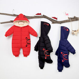 Winter-Warm-Newborn-Baby-Boy-Girl-Cotton-Hooded-Romper-Jumpsuit-Outfit-Clothes