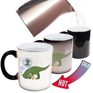 Funny Mugs - Dino Wish - Joke Coffee Tea Dinosaur MAGIC NOVELTY MUG