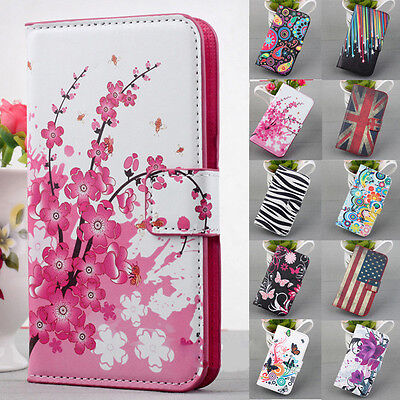 For iPhone Samsung Galaxy New Wallet Flip PU Leather Phone Case Cover W/Stand