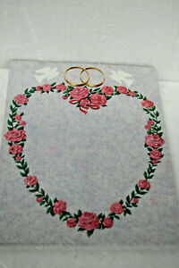 Wedding-Paper-8-5-034-X-11-034-Pink-amp-Green-Roses-heart-w-doves-and-rings-50-sheets
