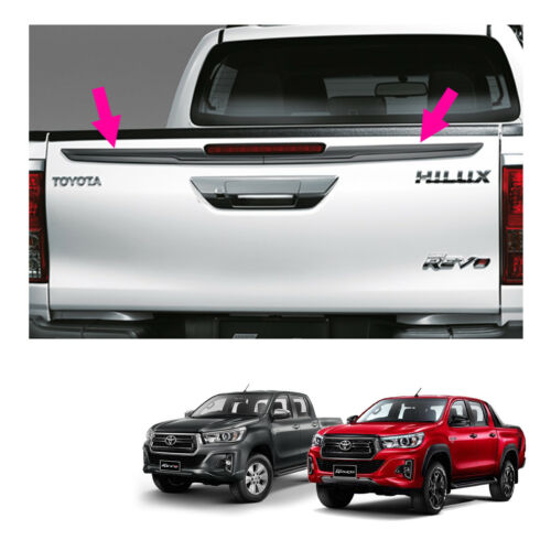 Genuine Rear Tailgate Blade Trim Grey For Toyota Hilux Revo Rocco 4 Dr 2015 2019