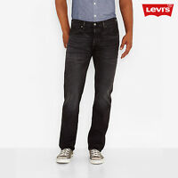 Levi's 501 Men's Black Wash Straight Button Fly Jeans W34 L34