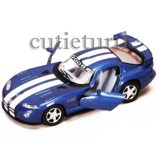 Kinsmart Dodge Viper GTS R 1:36 Diecast Toy Car Blue with White Stripes