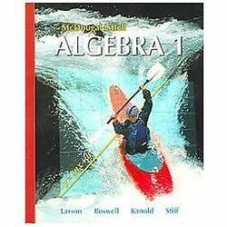 Details about McDougal Littell Algebra 1 (McDougal Littell Mathematics),  Ron Larson, Good Book