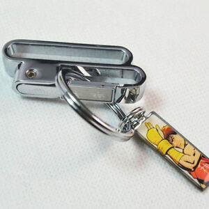 Detachable-Men-Stainless-Steel-Keyring-Keychain-Keyfob-Belt-Key-Holder-One-Loop