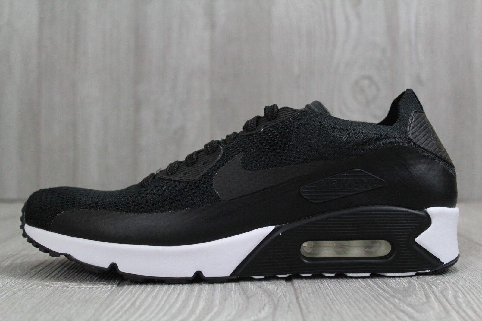 32 Nike Air Max 90 Ultra 2.0 Flyknit Black White Men shoes 875943-004 10 11 11.5