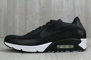 818f0d52bedc 32 Nike Air Max 90 Ultra 2.0 Flyknit Black White Men Shoes 875943 ...