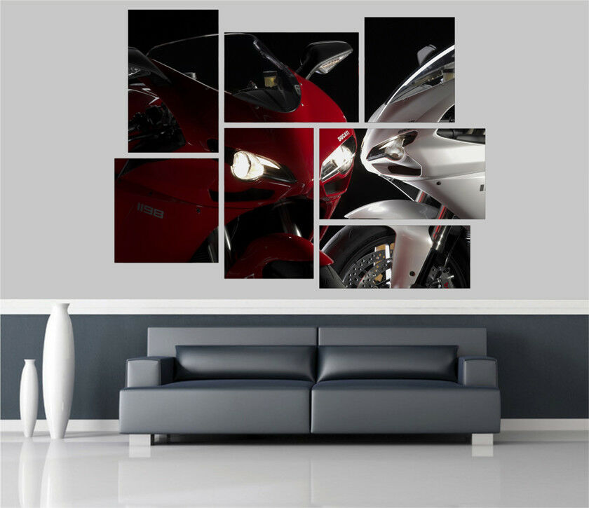 Ducati Streetfighters Motorbike Removable Self Adhesive Wall Picture Poster 1423