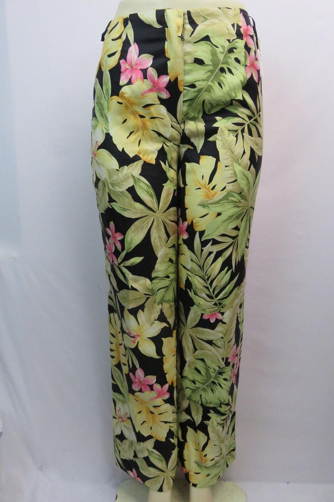 talbots damen dress pants Größe 4 floral pure silk