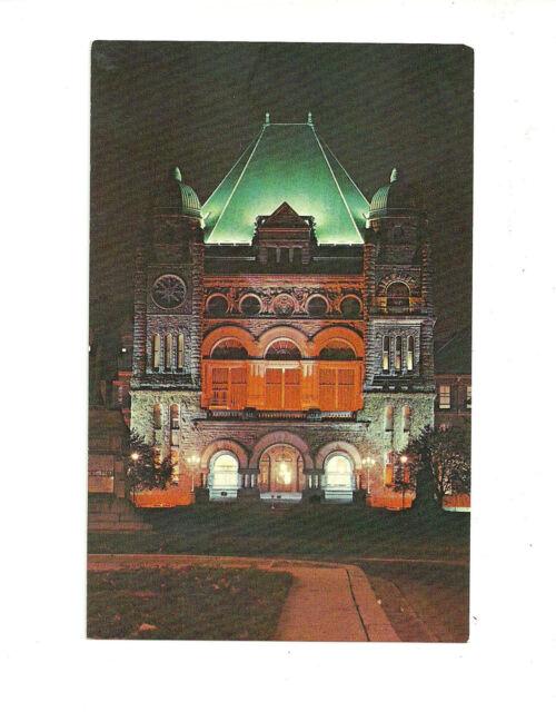 THE PROVINCIAL PARLIAMENT BUILD, TORONTO, ONTARIO, CANADA POSTCARD