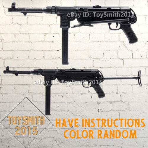 "1//6 1:6 Scale 12/"" Action Figure 4D Gun Model WWII Submachine Gun MP40 DID DAM"
