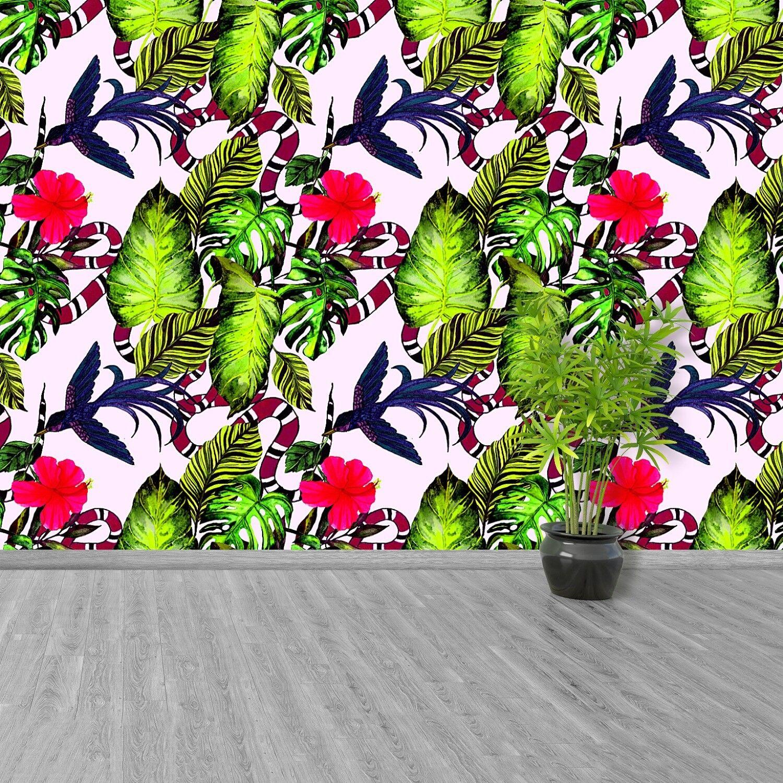 Vlies-Fototapete Fototapeten Tapete aus Vlies Poster Foto Blätter und Vögel