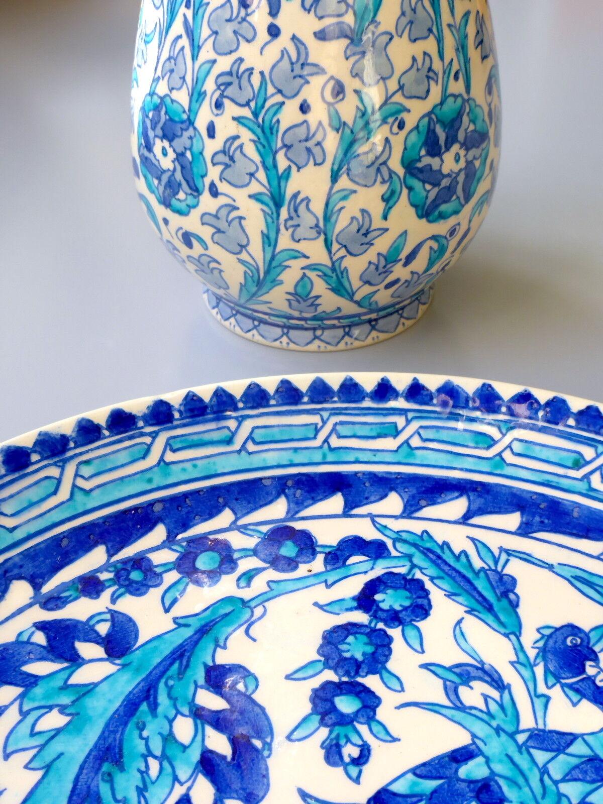 KÜTAHYA Vase + Teller - I. Çelebi Çini, Ton Keramik Türkisches Kunsthandwerk