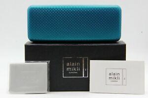 NEW-ALAIN-MIKLI-NEOPRENE-BLUE-HARD-SUNGLASSES-EYEGLASSES-CASE